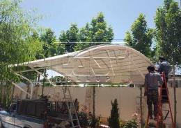 پروژه سایبان ثابت پارکینگی لواسان