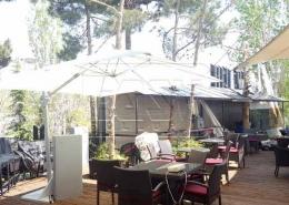 Fixed Umbrella Canopy The cafe