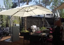 پروژه سایبان چتری ثابت کافه