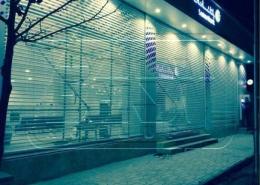 پروژه کرکره ضد حریق گالوانیزه تک جداره بانک سامان