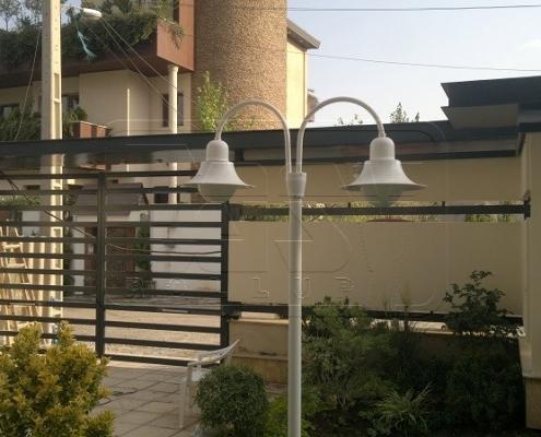 درب پارکینگ دو لنگه بازویی پروژه تهران